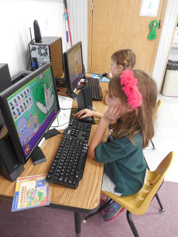 Computers can be found in our PreK and Elementary classrooms