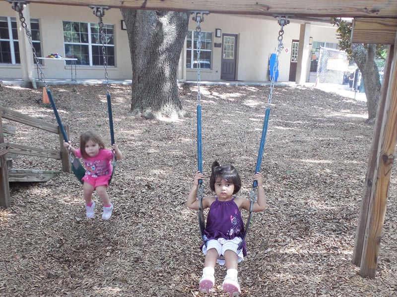Enjoying our swings
