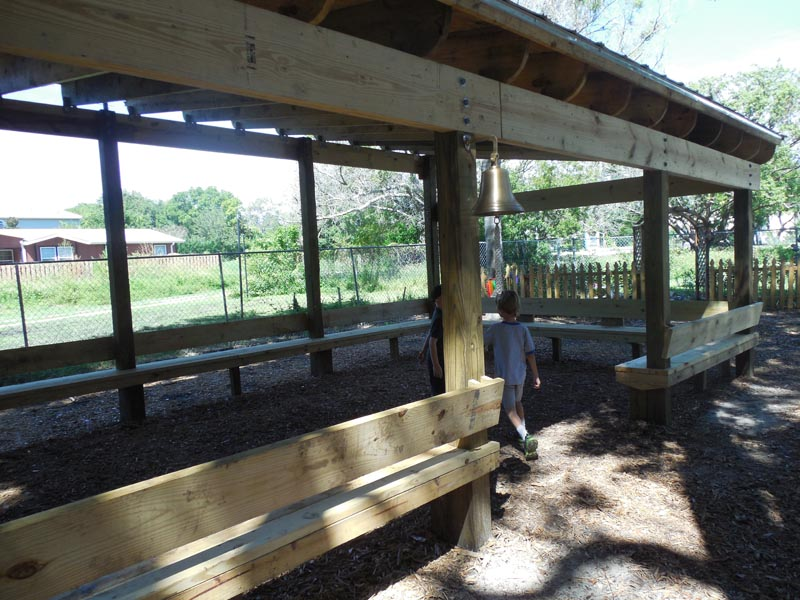 Outdoor classroom built by an Eagle Scout