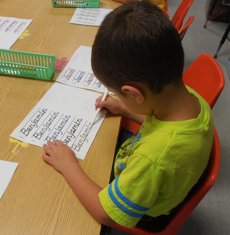 VPK name writing practice